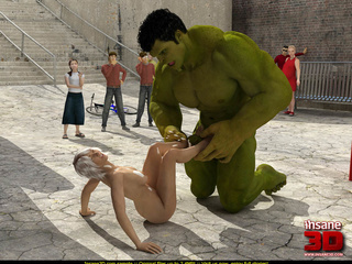 Curvy Storm gets her pussy abused by the Hulk's dick - Picture 4