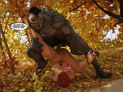 Big-titted red riding hood gets fucked by Wolf on the - Picture 4