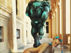Ogres gets their hard monstrous dicks inside sexy - Picture 2