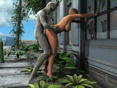 Ogres gets their hard monstrous dicks inside sexy - Picture 5