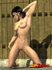 Fit and busty sorceress strips and teases her body at - Picture 5