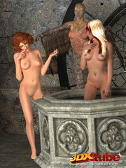 Two innocent sluts get fucked by a harpy with a hard - Picture 1