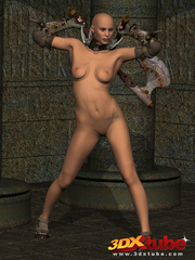 Sexy warrior babe strips and sticks her axe in her - Picture 3