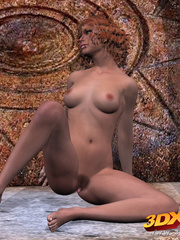 Exotic chick contorts and shows off her pussy at the - Picture 9