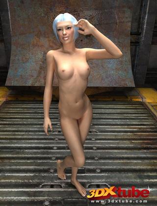 slender chick naked warehouse