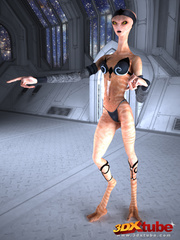 Hot space chicks get caught by horny aliens and - Picture 2