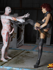 Hot space chicks get caught by horny aliens and - Picture 9