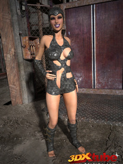 Slutty scifi babes tease their sexy and tight bodies - Picture 3