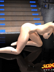 Exotic alien chicks show off their big breasts and - Picture 5