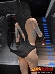 Beautiful alien women with revealing costumes tease - Picture 1