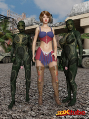 Hot and busty sluts get caught by horny aliens by - Picture 4