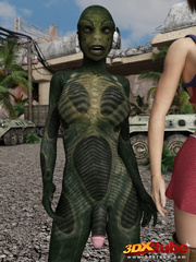 Hot and busty sluts get caught by horny aliens by - Picture 5