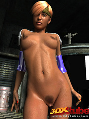 Naked ebony chick gets finger banged by two horny - Picture 2