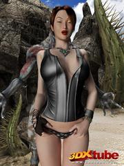 Busty brunette gets taken prisoner by a horny demon - Picture 7