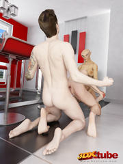 Two horny alien sluts get fucked by a human in the - Picture 8