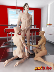 Two horny alien sluts get fucked by a human in the - Picture 9
