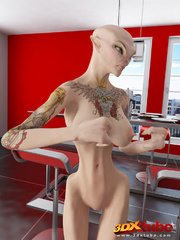 Busty alien chicks want to fuck a hard human dick. - Picture 3
