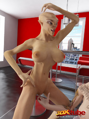 Busty alien chicks want to fuck a hard human dick. - Picture 6