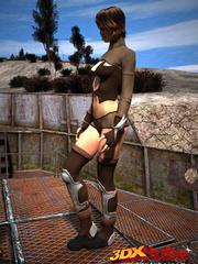 Slave slut gets commanded to fuck her warrior master - Picture 2