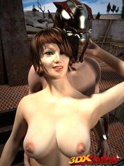 Slave slut gets commanded to fuck her warrior master - Picture 4