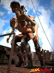 Slave slut gets commanded to fuck her warrior master - Picture 6