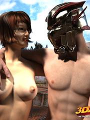 Slave slut gets commanded to fuck her warrior master - Picture 8