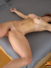 Beautiful babes strip on couch and bed and living - Picture 9