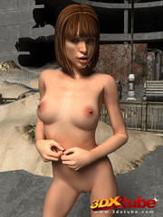 Brunette with hot body walks around with no clothes - Picture 6