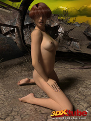Post apocalyptic sexy babe with hot bod strips on - Picture 6