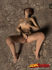 Post apocalyptic sexy babe with hot bod strips on - Picture 8