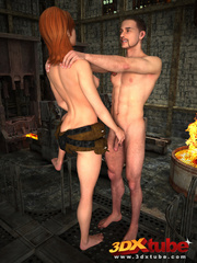 Sexy brunette gets sensually fucked by dude by the - Picture 2