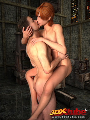 Sexy brunette gets sensually fucked by dude by the - Picture 5