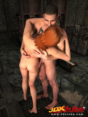 Sexy brunette gets sensually fucked by dude by the - Picture 6