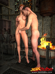 Sexy brunette gets sensually fucked by dude by the - Picture 7