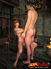 Sexy brunette gets sensually fucked by dude by the - Picture 9