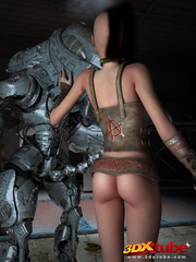 Big robot fucks hot punk chick and she enjoys it - Picture 1