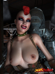 Big robot fucks hot punk chick and she enjoys it - Picture 3