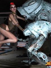 Big robot fucks hot punk chick and she enjoys it - Picture 4