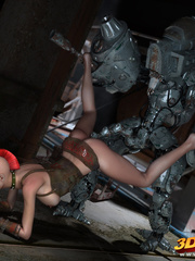 Big robot fucks hot punk chick and she enjoys it - Picture 5