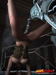Big robot fucks hot punk chick and she enjoys it - Picture 6