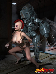Big robot fucks hot punk chick and she enjoys it - Picture 8