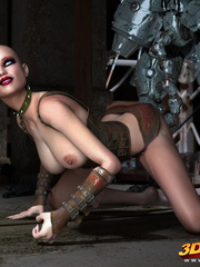 Big robot fucks hot punk chick and she enjoys it - Picture 9