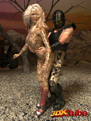 Alien babe with wet pussy gets fucked by traveller's - Picture 2