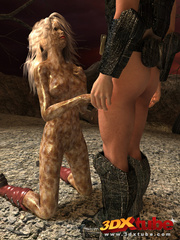 Alien babe with wet pussy gets fucked by traveller's - Picture 4