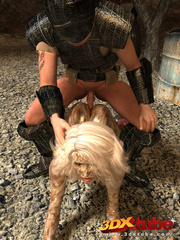 Alien babe with wet pussy gets fucked by traveller's - Picture 7