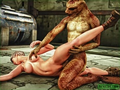 Women get fucked hard by different monsters with - Picture 1