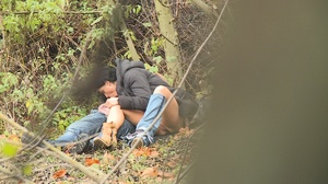 Teen guy seduces brunette chick to have hot fuck in bushes - XXXonXXX - Pic 7