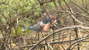 Teen guy seduces brunette chick to have hot fuck in bushes - XXXonXXX - Pic 10