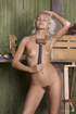 Lusty naked blonde with hairy pussy and small…