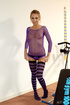 Sexy workout of a teen in the purple mesh